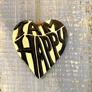 """I am"" Steel Heart Ornament"