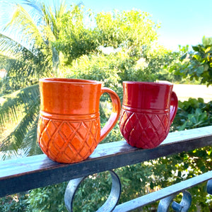 Handmade Ananas Mugs (Set of 6 Assorted)
