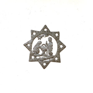 Nativity Star Metal Ornament