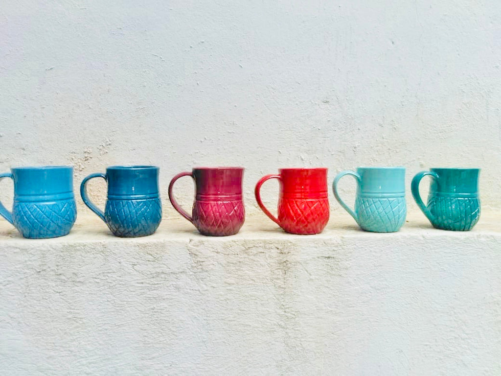 Handmade Ananas Mugs (set of 6)