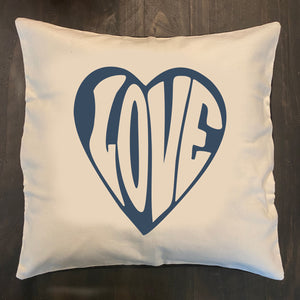 """Love""  Pillow Cover"