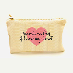 """Search Me God"" Zipper Pouch"