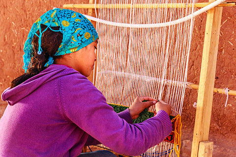 Berber Girl Weaving
