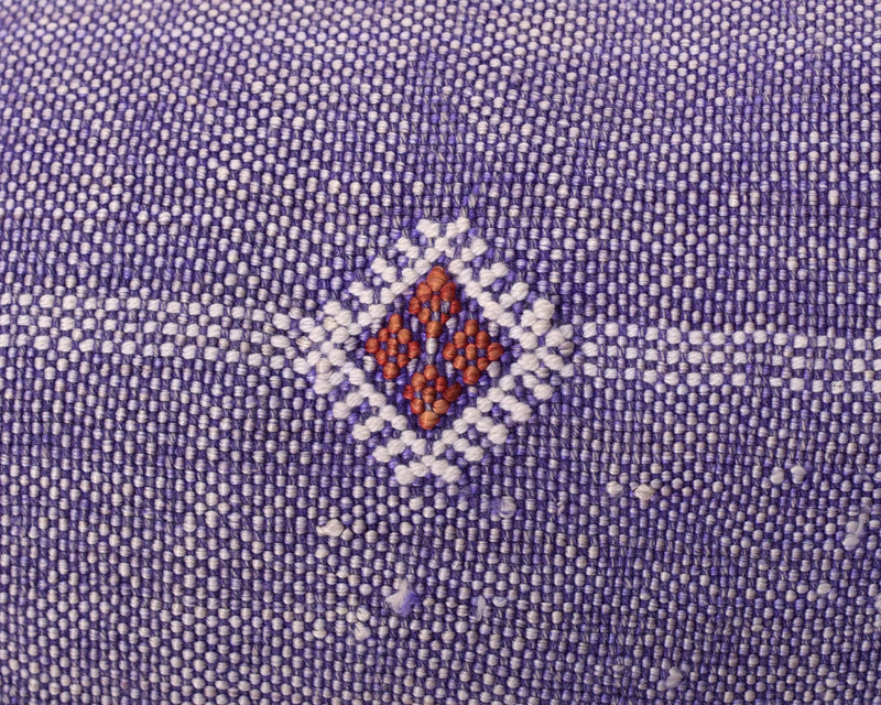 "Cactus Silk Moroccan Sabra Lumbar Throw with Fringe, Violet Purple - Rectangle 12""x47""  (CTS-K11)"