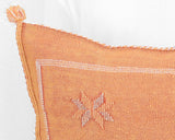"Cactus Silk Moroccan Sabra Pillow Throw, Burnt Orange- Square 20""x20"" (CTS-P105)"