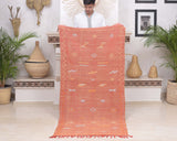 "Cactus Silk Moroccan Sabra Runner - Burnt Orange 3'01""x6'07""ft"