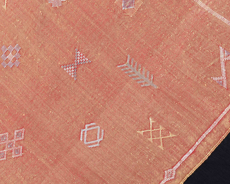 "Cactus Silk Moroccan Sabra Runner - Burnt Orange 2'11""x9'08""ft  (UNS-XL007)"
