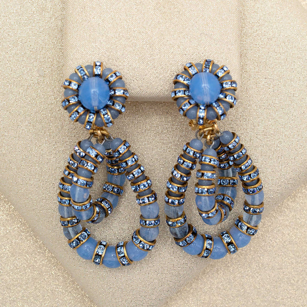 Double Helix Earrings in Cornflower