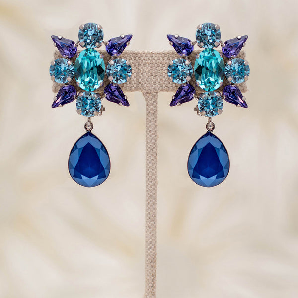 Starburst Earrings in Blue