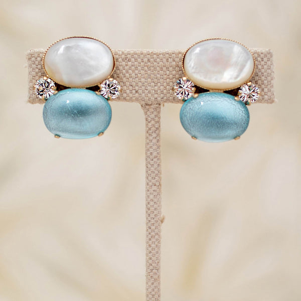 Gumdrop Earrings in Aqua