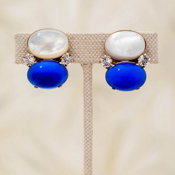 Gumdrop Earrings in Cobalt
