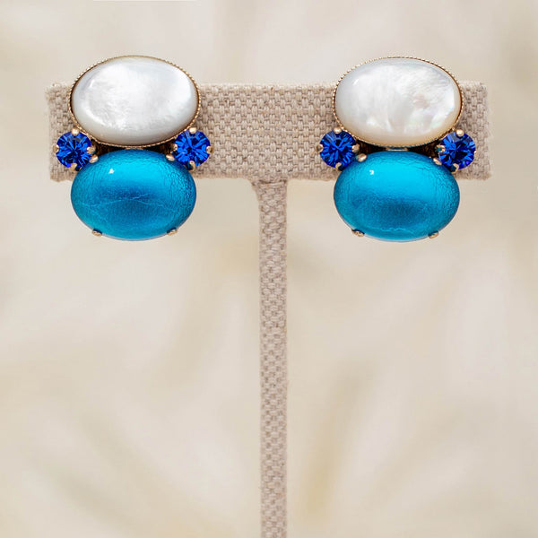 Gumdrop Earrings in Sky
