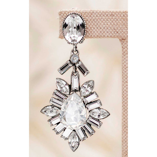Reveillon Earrings in White Diamond