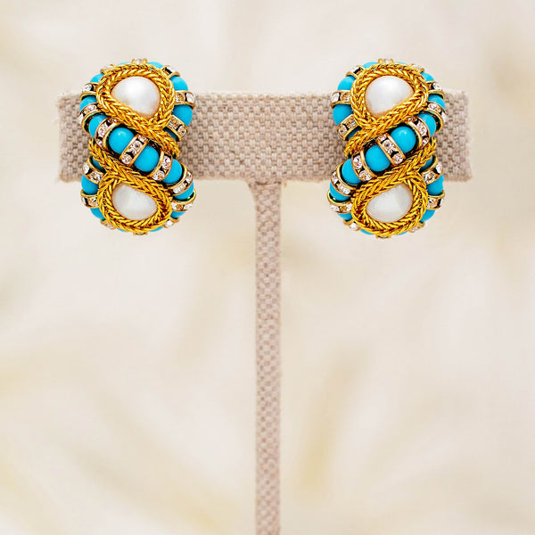 Octave Earrings in Turquoise