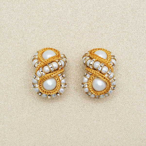 Octave Earrings with Pearls
