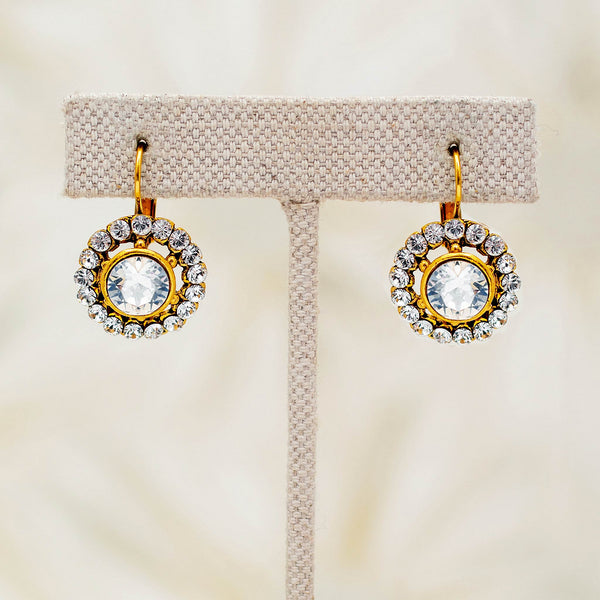 Candela Earrings in White Diamond