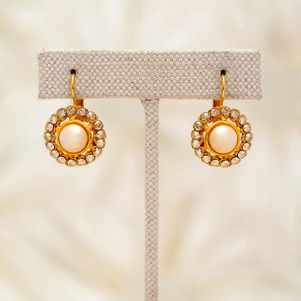 Candela Earrings with Pearls