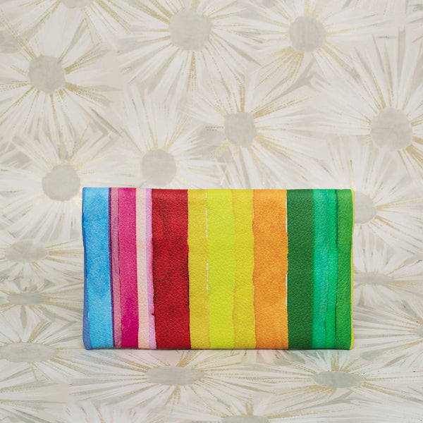 Rainbow Leather Clutch
