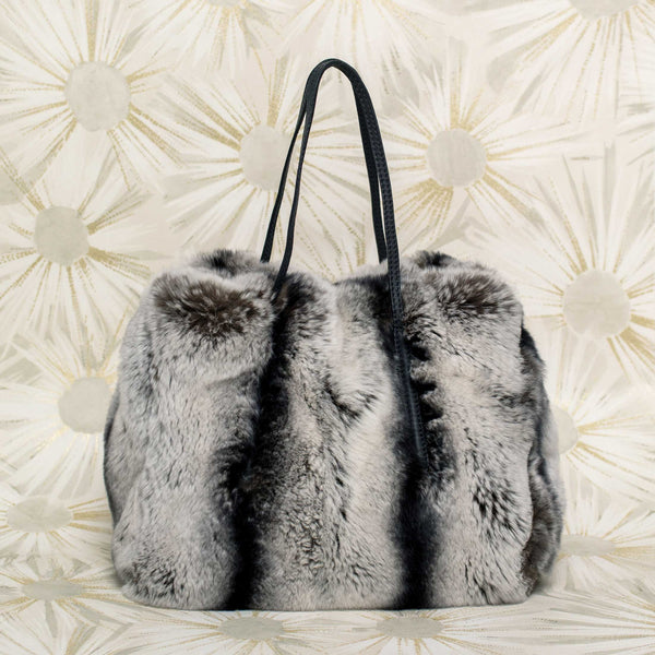 Fur Petit Tote in Grey
