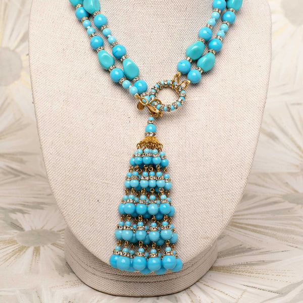 Tassel Necklace in Turquoise