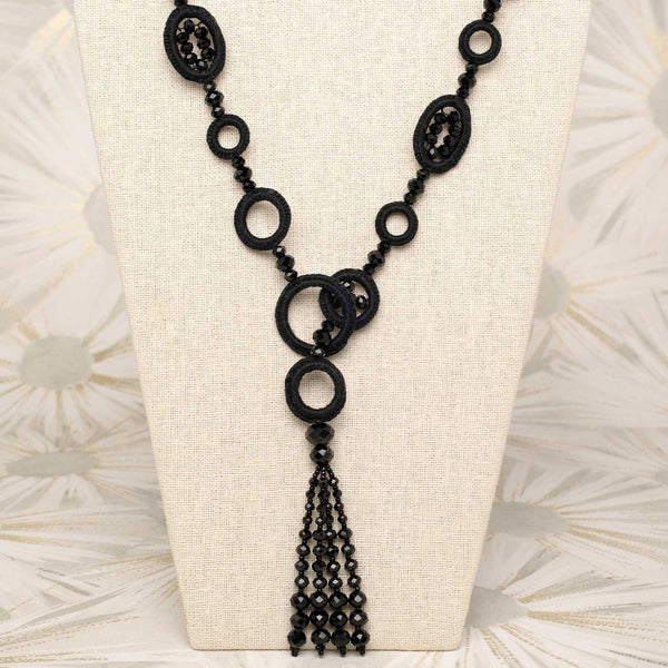 Tango Tassel Necklace Black