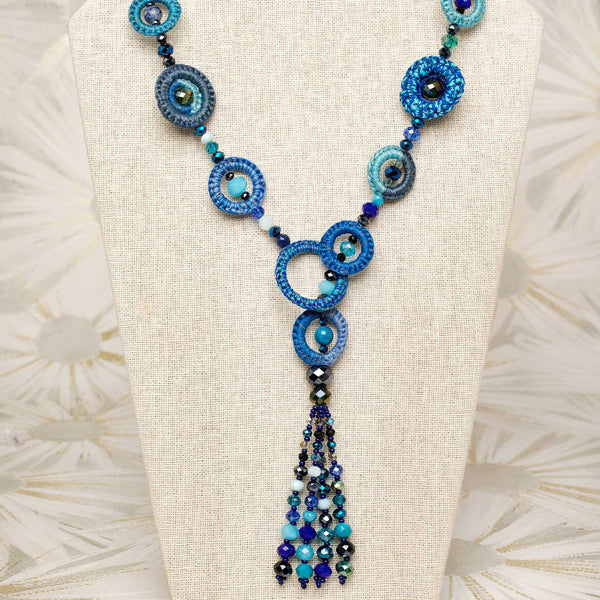 Tango Tassel Necklace in Indigo