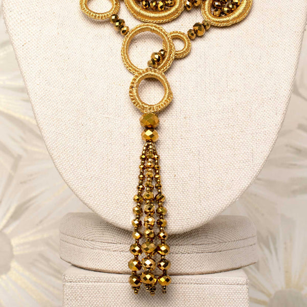 Tango Tassel Necklace in Gold