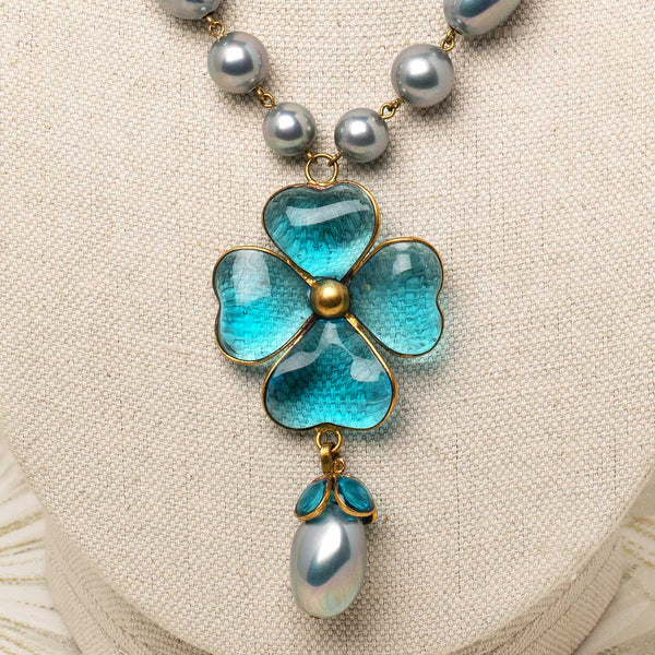 Oriel Necklace in Blue