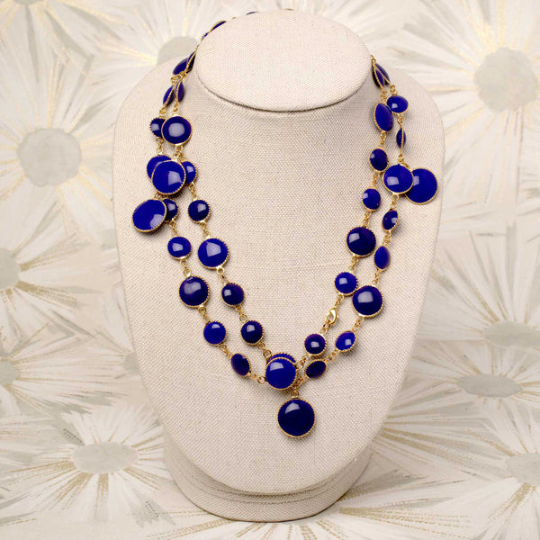 Pixel Necklace in Cobalt