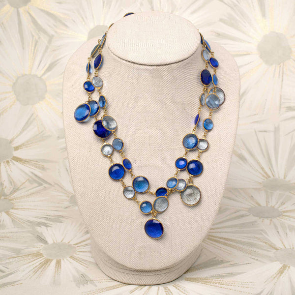 Pixel Necklace in Sapphire