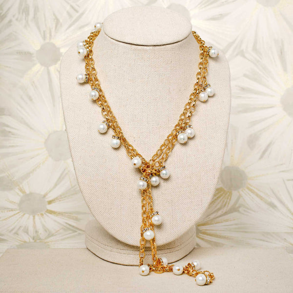 Confetti Necklace with Pearls