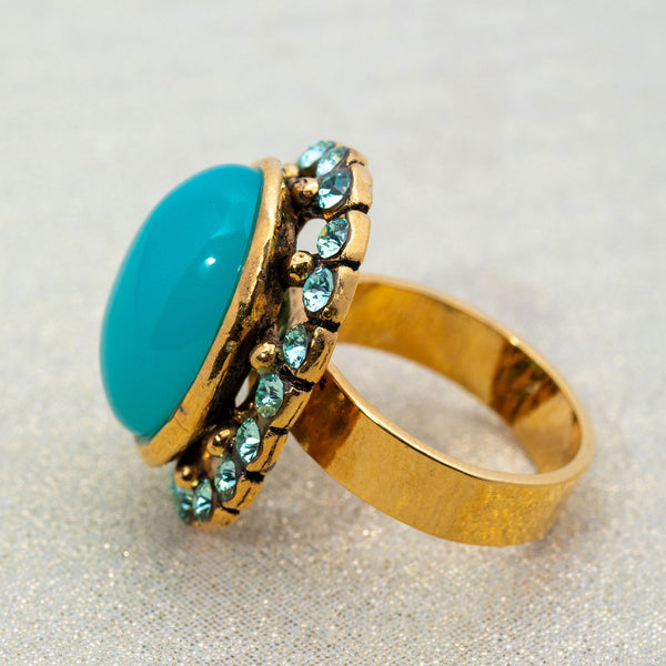 Ritz Ring in Turquoise