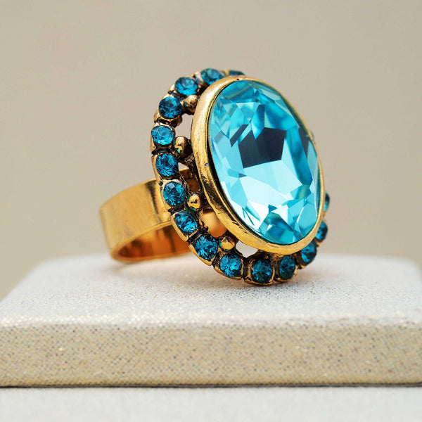 Ritz Ring in Aquamarine