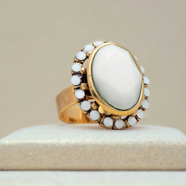 Ritz Ring in Alabaster