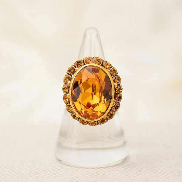 Ritz Ring in Amber
