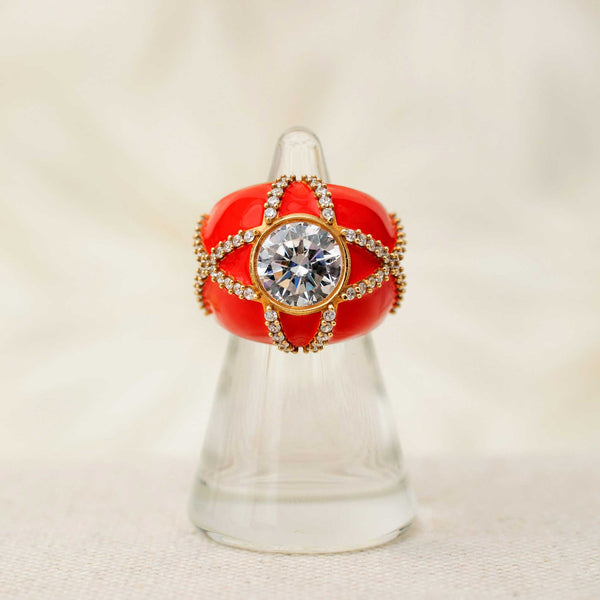 Harlequin Ring in Red