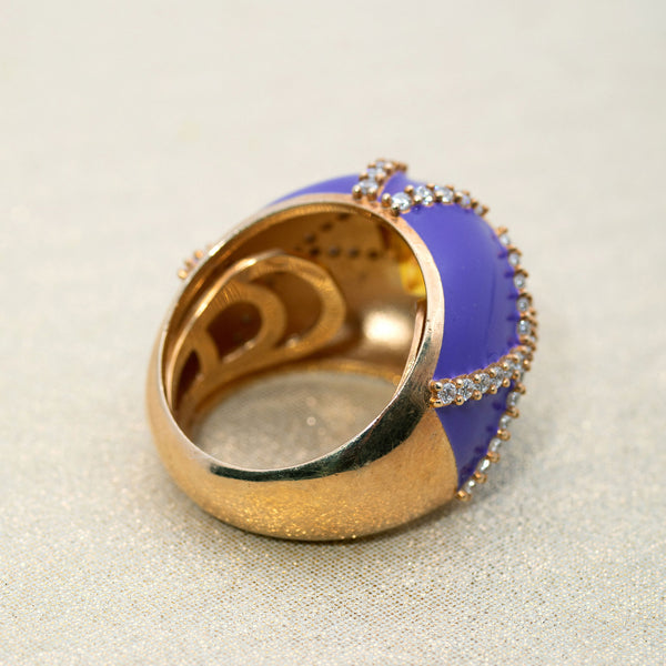 Harlequin Ring in Purple