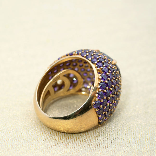 Pavé Dome Ring in Amethyst
