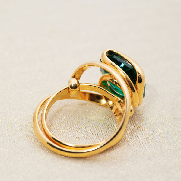 Beacon Ring in Emerald