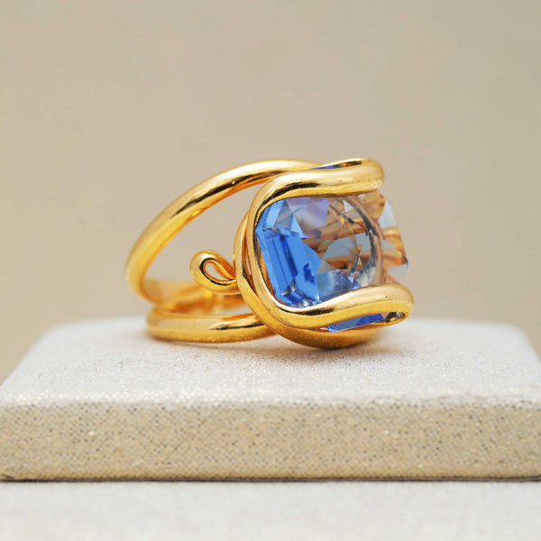 Beacon Ring in Smoke Blue
