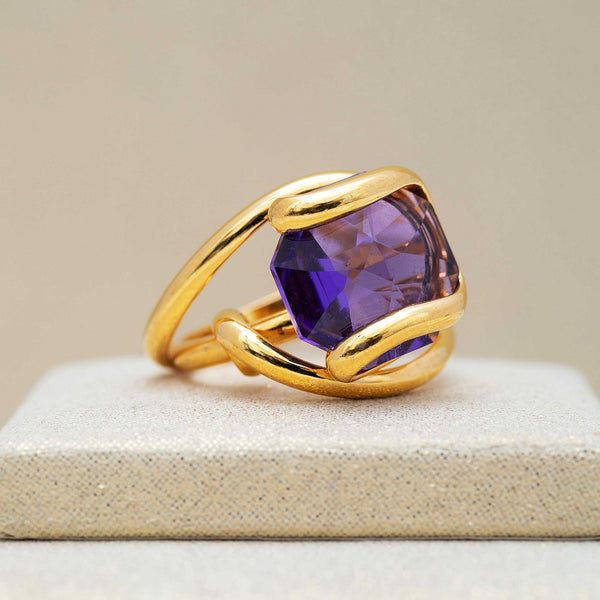 Beacon Ring in Amethyst