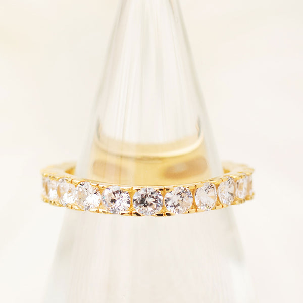 Bliss Eternity Band in White Diamond