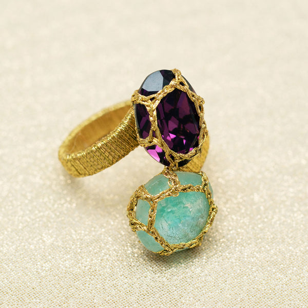 Colette Ring in Amethyst and Aquamarine