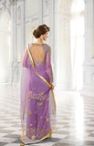 Purple Designer Bridal Georgette and Net Lehenga with BONUS Palazzo Pants - Saira's Boutique - 2