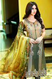 Green & Brown Georgette Designer Pant Suit - Saira's Boutique - 1