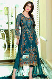 Blue Georgette Designer Pant Suit-Saira's Boutique