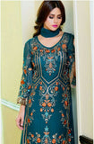 Blue Georgette Designer Pant Suit - Saira's Boutique - 3