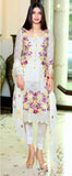 Off White Georgette Designer Pant Suit - Saira's Boutique - 2
