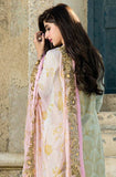 Light Blue & Pink Embroidered Lawn Cotton Pant Suit - Saira's Boutique - 3