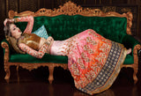 Shaded Orange Pink Designer Premium Net Lehenga - Saira's Boutique - 2